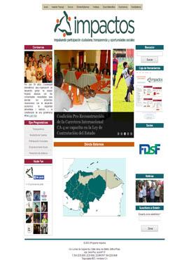 Diseño web Honduras | Paginas web para capturar clientes  Programa  Impactos