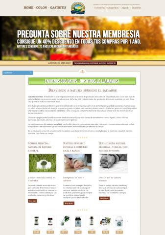 Desarrollo de aplicaciones web En honduras  Natures Sunshine El Salvador