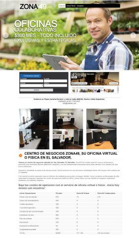 Diseño web Honduras | Paginas web para capturar clientes  Centro de negocios – Zona 49 El Salvador