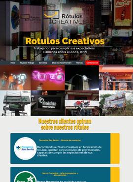 Diseño web Honduras | Paginas web para capturar clientes  Rotulos Creativos El Salvador