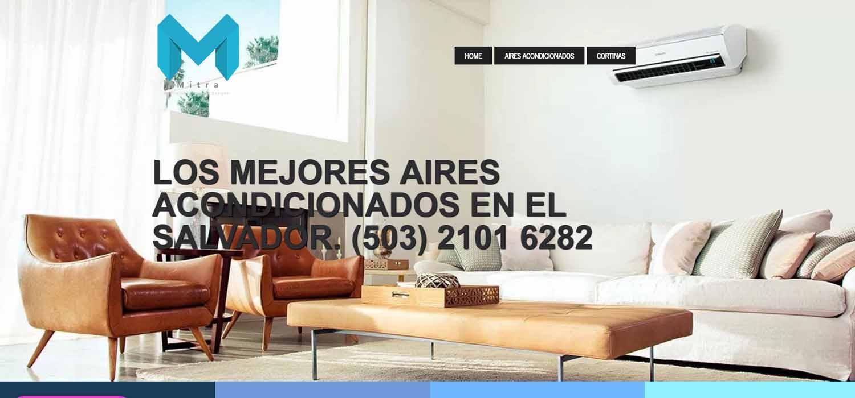 Desarrollo de aplicaciones web En honduras  MITRA: construccion, arquitectura y climatizacion con aires acondicionados el salvador